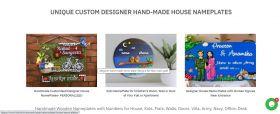 UNIQUE CUSTOM DESIGNER HAND-MADE HOUSE NAMEPLATES