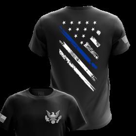 Blue Line Crest Flag T-Shirts | Men's Tees for Rea
