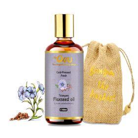 O4U Telangana Flax Seed Cold-Pressed Organic Oil.