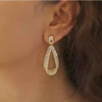 Drop Gold Stone Earrings from Swarovski Elements