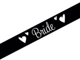 Bride Satin Sash | Hens Night Supplies