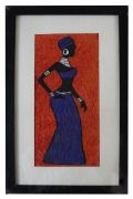 African Painting | Purple Lady