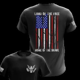 Land of the Free | USA Men's Tee | Comfort-Focused