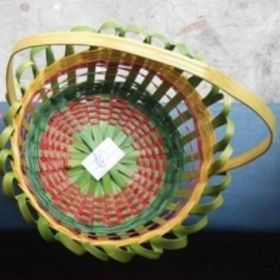 Bamboo Flower Basket with Handel