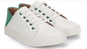 Chemistry White Contrast Back Sneakers (White)
