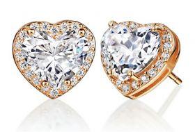 Al heart-shaped earrings
