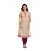 aipan motifs embroidery cotton straight kurti