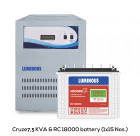 Luminous Cruze 7.5 KVA Inverter + Battery Combo