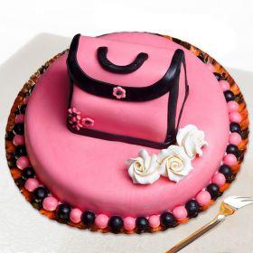 Designer Hand Bag Theme Cake