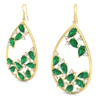 Lush Greenery Emerald Earrings