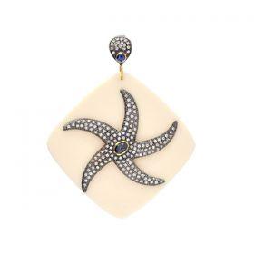 Bakelite Designer Silver Pendant Jewelry