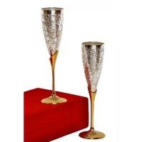 Designer Silver Plated Goblet Set