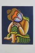 Rajasthan Couples paintings | Acrylic Paintings
