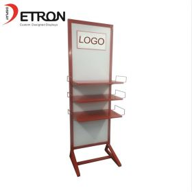 Flooring grocery pegboard metal stand
