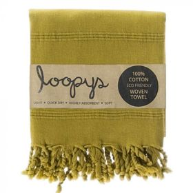 Olive Lime Green Stonewash Turkish Towels