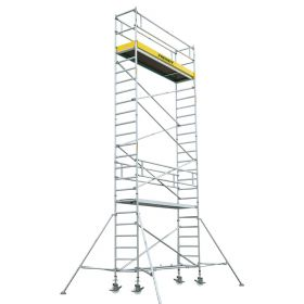 ALUMINUM SCAFFOLDING TOWER WITH STABILIZER