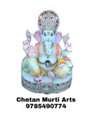 Marble Ganesh Statue   Chetanmurtiarts.online