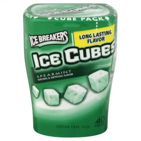Ice Breakers Ice Cubes Spearmint Gum Tub 92g