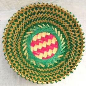 Green Round Bamboo Gift Basket