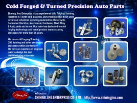Cold forged and precision machined metal parts