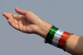 TRI-COLOR METAL BANGLES FOR INDIAN INDEPENDENCE DA