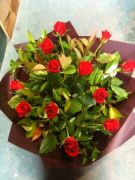 12 Red Rose Bouquet - Flowers Melbourne City