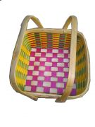 Bamboo Gift Basket with Handel