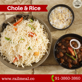 Food in train- Chole & rice combo