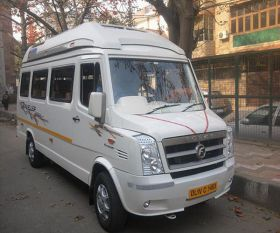 15 Seater Tempo Traveller on Rent