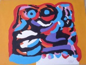 Karel Appel Hand Signed Lithograph Painting