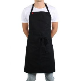 Restaurant bib aprons with pockets