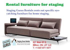Rental furniture for staging
