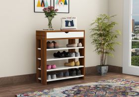 Finola Shoe Rack with Frosty White Storage