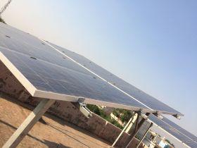 Hybrid rooftop solar plants installation