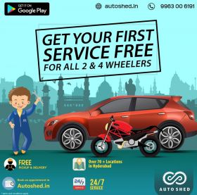 GET YOUR FIRST SERVICE FREE FOR ALL Car &  Bike
