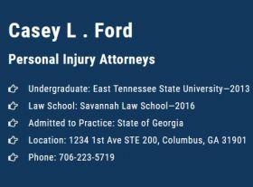 Casey L. Ford Injury Attorney