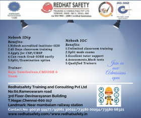 Nebosh International Diploma course in chennai