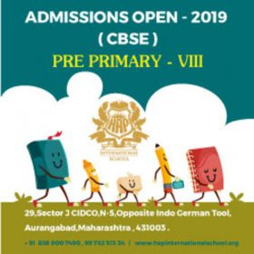 Admissions Open for Pre Primary to std VIII