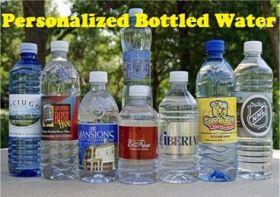 custom labels bottle water