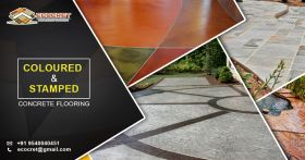 Colored concrete flooring | Coloured concrete