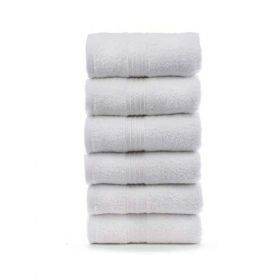 Cotton white hand towels