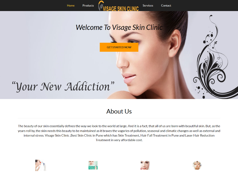 Few Of Websites Developed By Using Our Website Builder Visageskinclinic